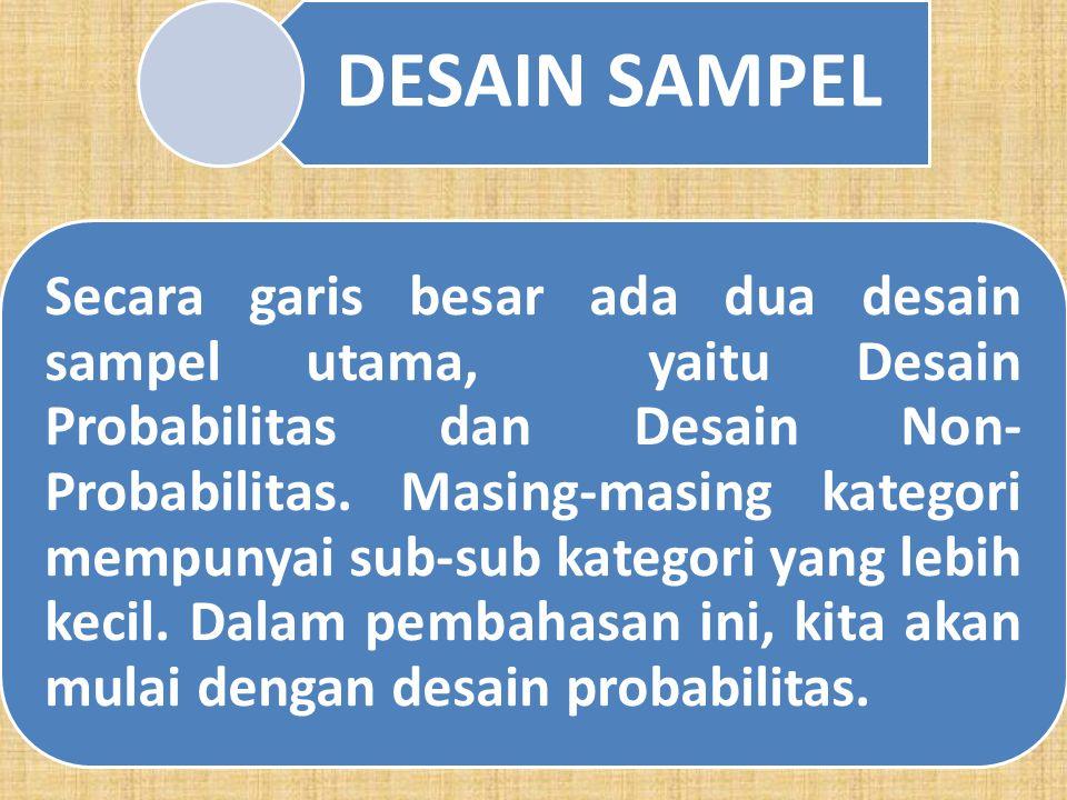 g. Tahap 7 Memilih Sampel: Tahap akhir dalam proses ini ialah penentuan sampel untuk digunakan pada proses penelitian berikutnya, yaitu koleksi data.