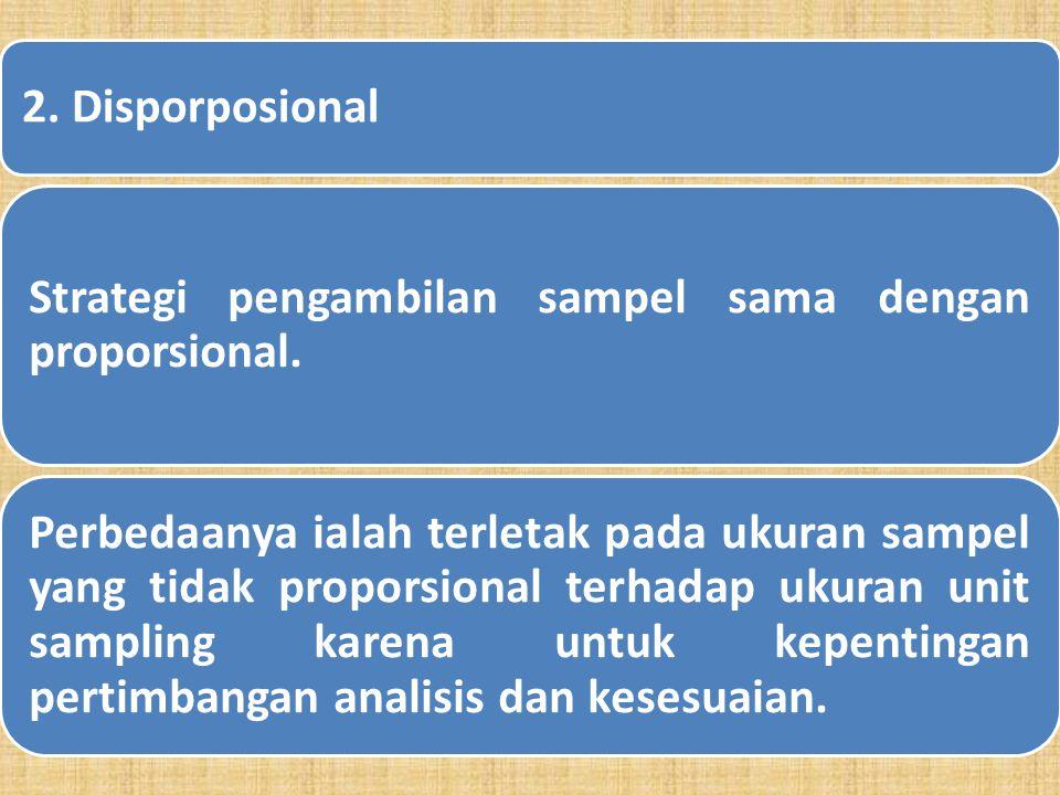 d. Teknik Pengambilan Sampel Secara Random Bertingkat (Stratified Random Sampling) 1. Proporsional Cara pengambilan sampel dilakukan dengan menyeleksi