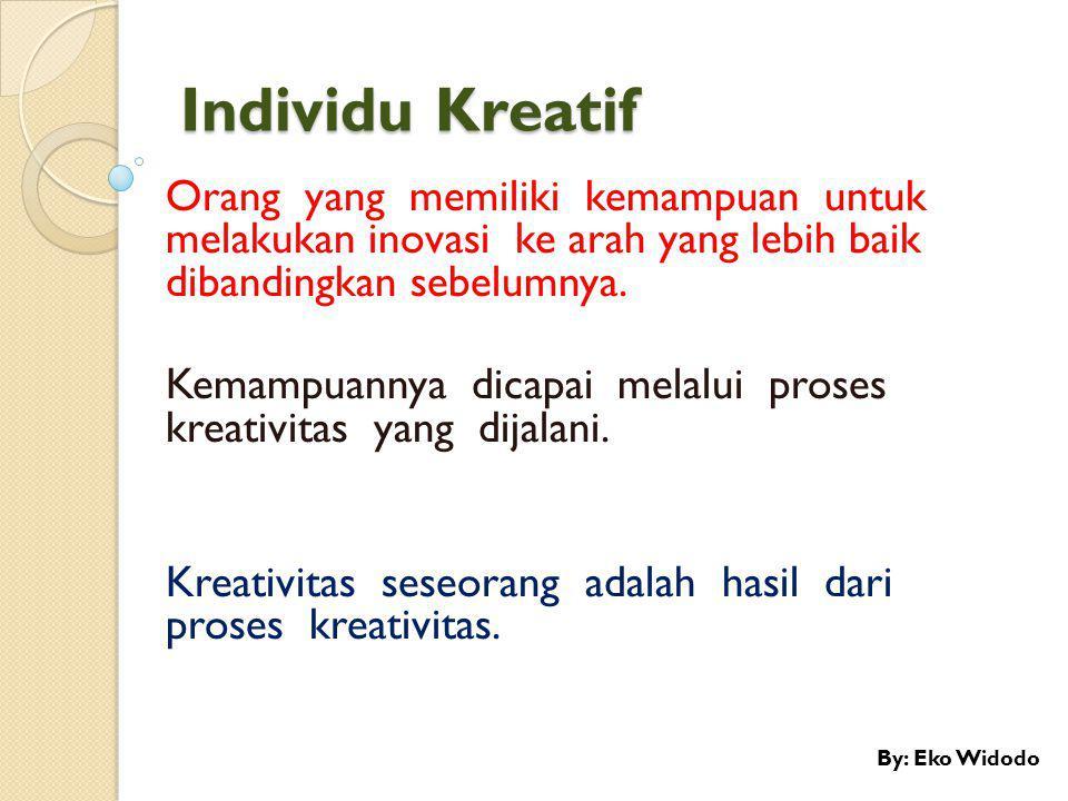 Ciri Kepribadian Kreatif 1.