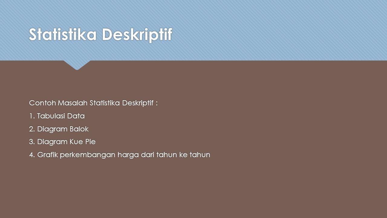 Statistika Deskriptif Contoh Masalah Statistika Deskriptif : 1.