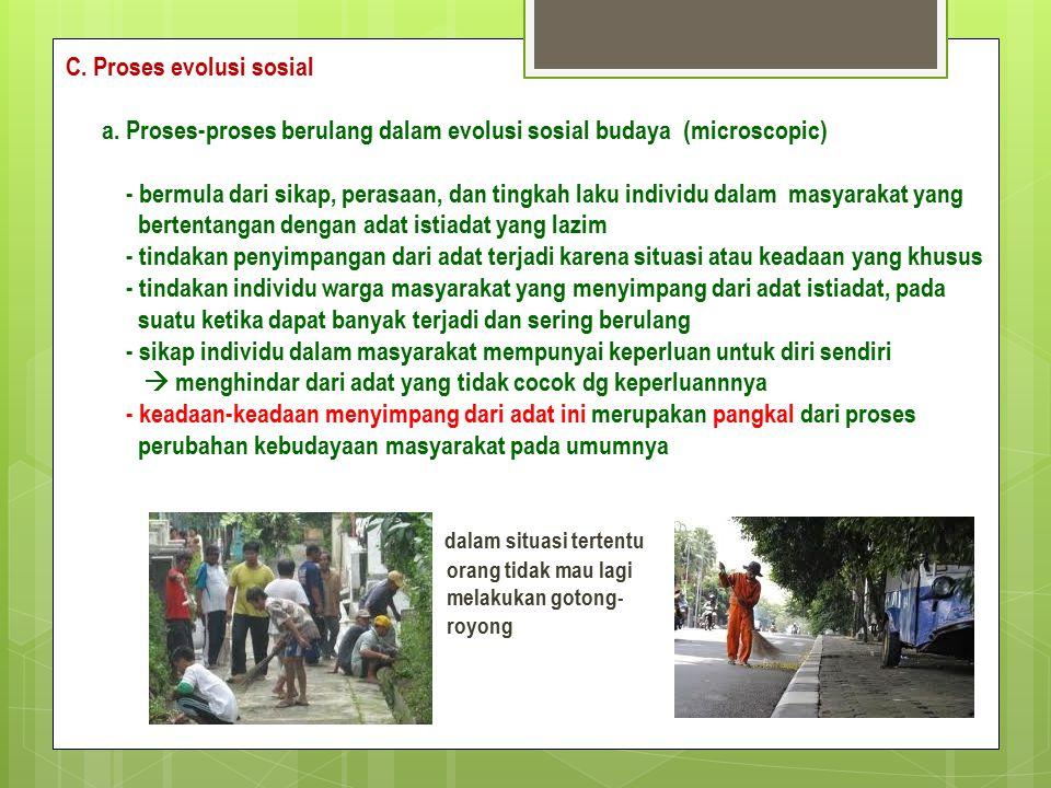 C. Proses evolusi sosial a.