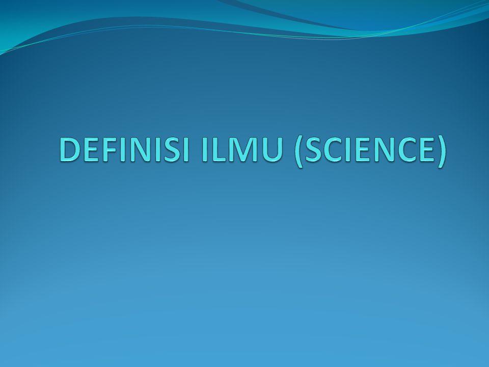 PERANAN ILMU Ilmu merupakan salah satu tahapan terpenting yang dilalui manusia dalam mencari kebenaran.