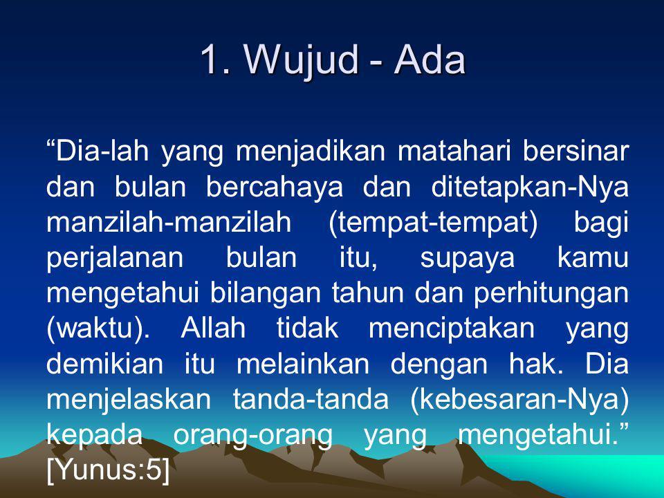 8.Qadirun – Kuasa Allah kuasa. Mustahil tidak kuasa ...