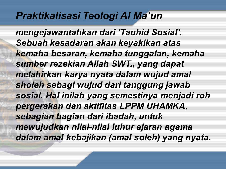 Penguatan Nilai-Nilai Interprenuership LPPM UHAMKA sebagai lembaga pengabdian masyarakat dituntut untuk memahami kondisi sosial kemasyarakatan di lingkungannya.