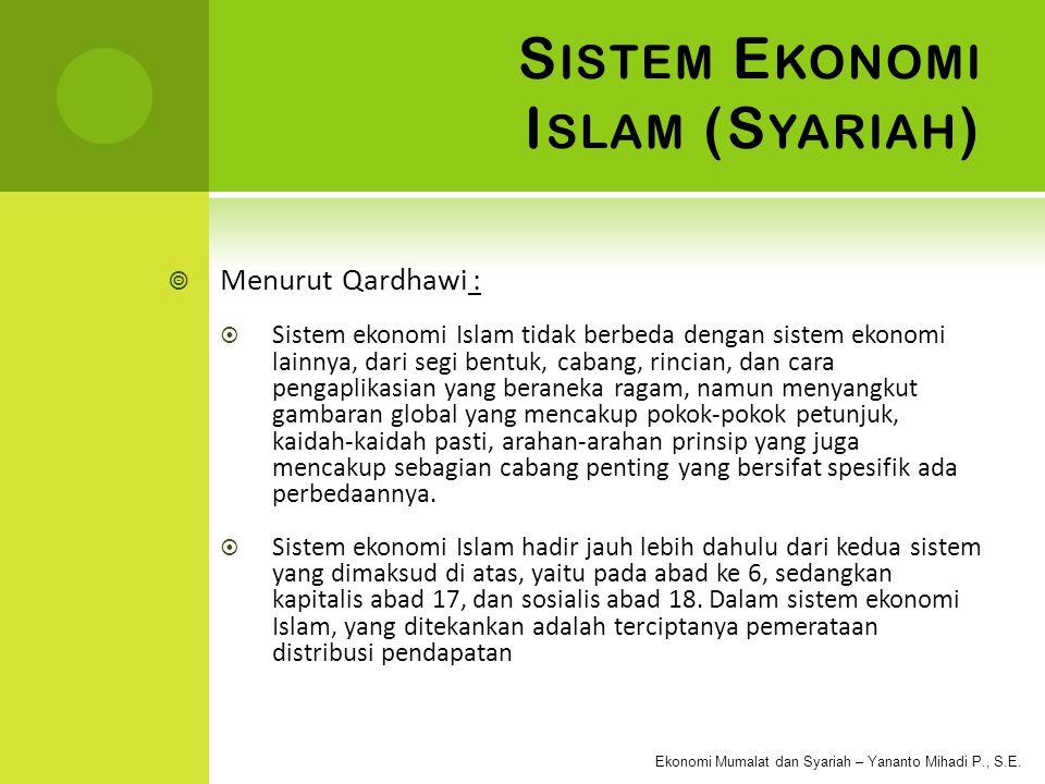 Ekonomi Mumalat dan Syariah – Yananto Mihadi P., S.E.