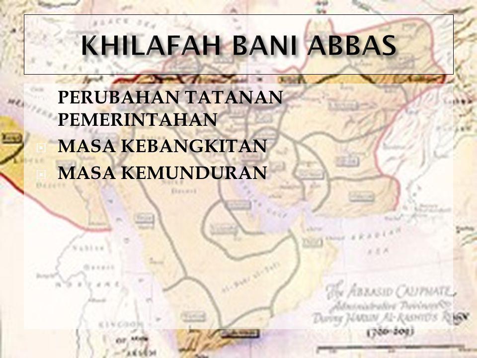  KHALIFAH-KHALIFAH BESAR  MUAWIYAH BIN ABI SYUFYAN (661M-680M)  ABD AL-MALIK BIN MARWAN (685M-705M)  AL-WALID BIN ABD MALIK (705M-715)  UMAR BIN ABD AL-AZIZ (717M-720M)  HASYIM BIN ABD AL-MALIK (724M-743M)  PERISTIWA-PERISTIWA PENTING  PENDUDUKAN ISLAM DI EROPA  PERANG KERBALA  SEBAB-SEBAB KERUNTUHAN  SISTEM PERGANTIAN KHALIFAH YANG DIDASARKAN PADA KETURUNAN  KONFLIK POLITIK  KONFLIK ANTAR ETNIS  MUNCULNYA KEKUATAN BARU