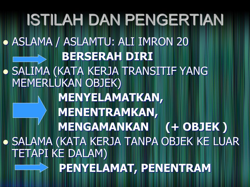KESIMPULAN ISLAM SEBAGAI AGAMA MEMENUHI 3 ASPEK: 1.