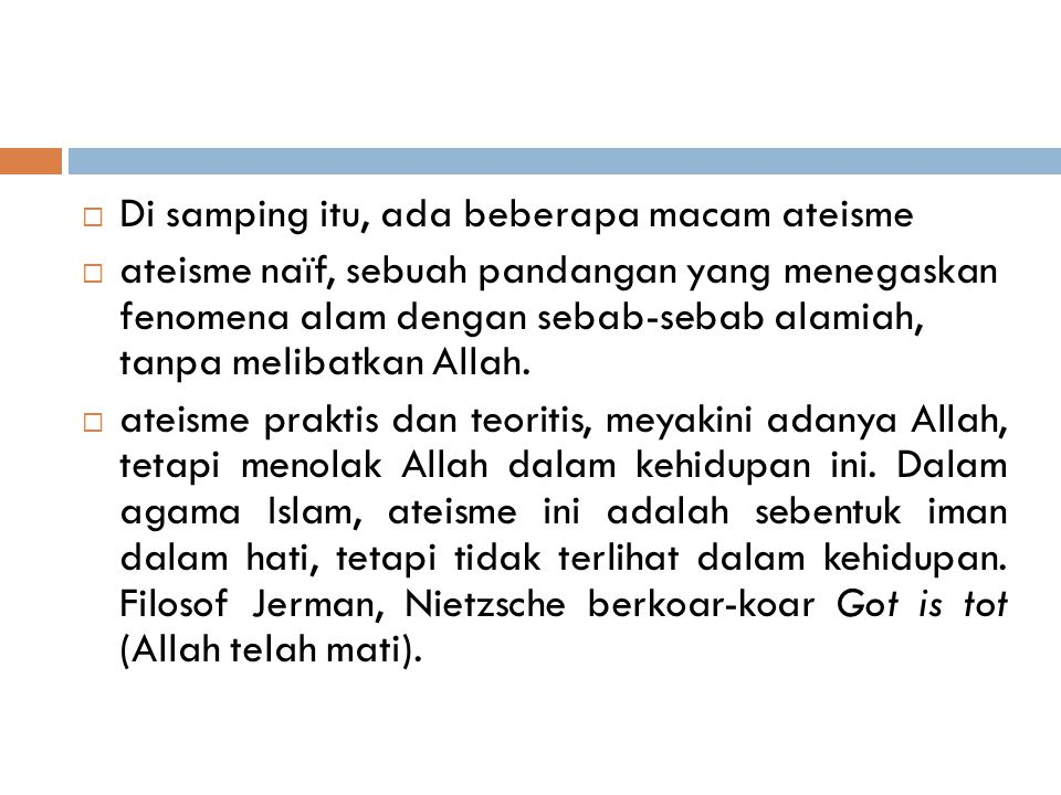  Tauhid Uluhiyah  Tauhid uluhiyah meyakini bahwa Allah adalah satu-satunya Tuhan yang patut dipuja dan disembah.