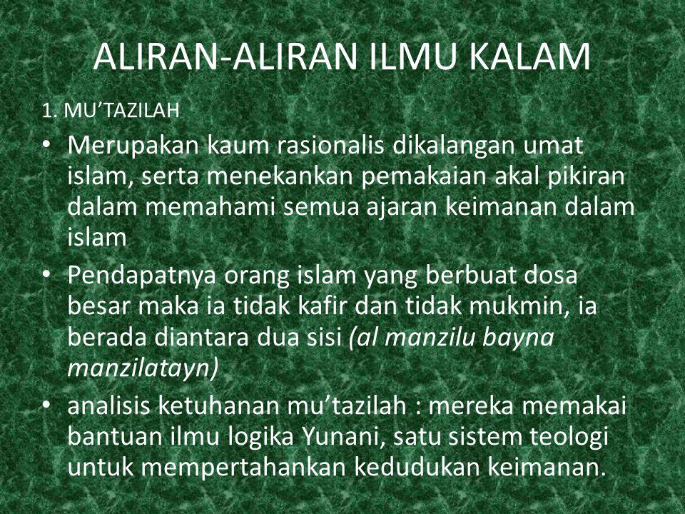2.QODARIYAH Pendapat Qodariyah : manusia mempunyai kebebasan dalam berkehendak dan berbuat.