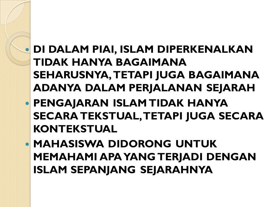 RAPAT KERJA PARA REKTOR IAIN SE- INDONESIA PADA BULAN AGUSTUS 1973 MENETAPKAN BAHWA PENGANTAR ILMU AGAMA ISLAM MENJADI MATA KULIAH KOMPONEN INSTITUT YANG WAJIB DIAMBIL OLEH SETIAP MAHASISWA IAIN APAPUN FAKULTAS DAN JURUSANNYA.