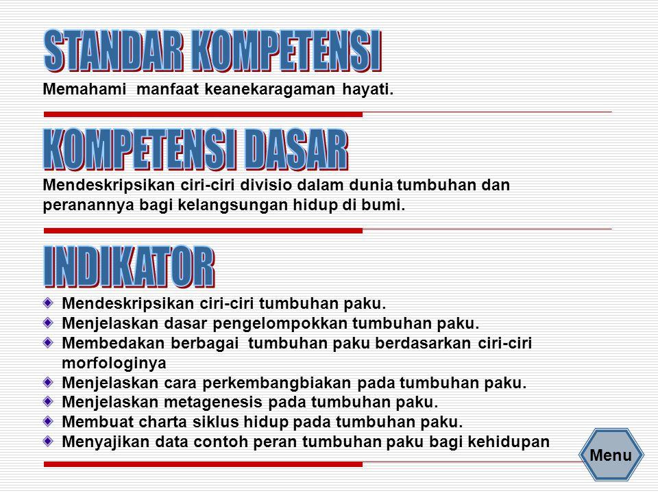 PERANAN TUMBUHAN PAKU 2.