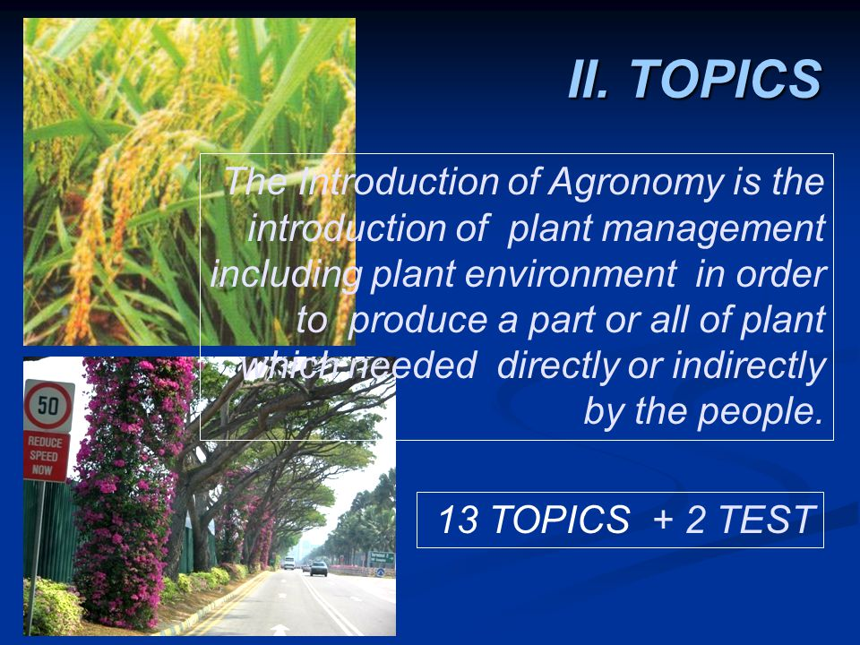 1.INTRODUCTION 2. POTENCY OF AGRICULTURE COMMODITIES 3.