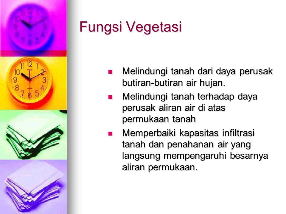 Berbagai cara konservasi secara vegetatif.Penanaman tanaman penutup secara terus-menerus.
