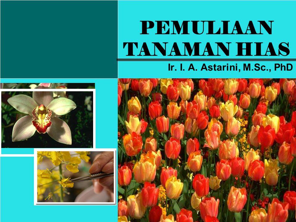 PEMULIAAN TANAMAN HIAS Ir. I. A. Astarini, M.Sc., PhD