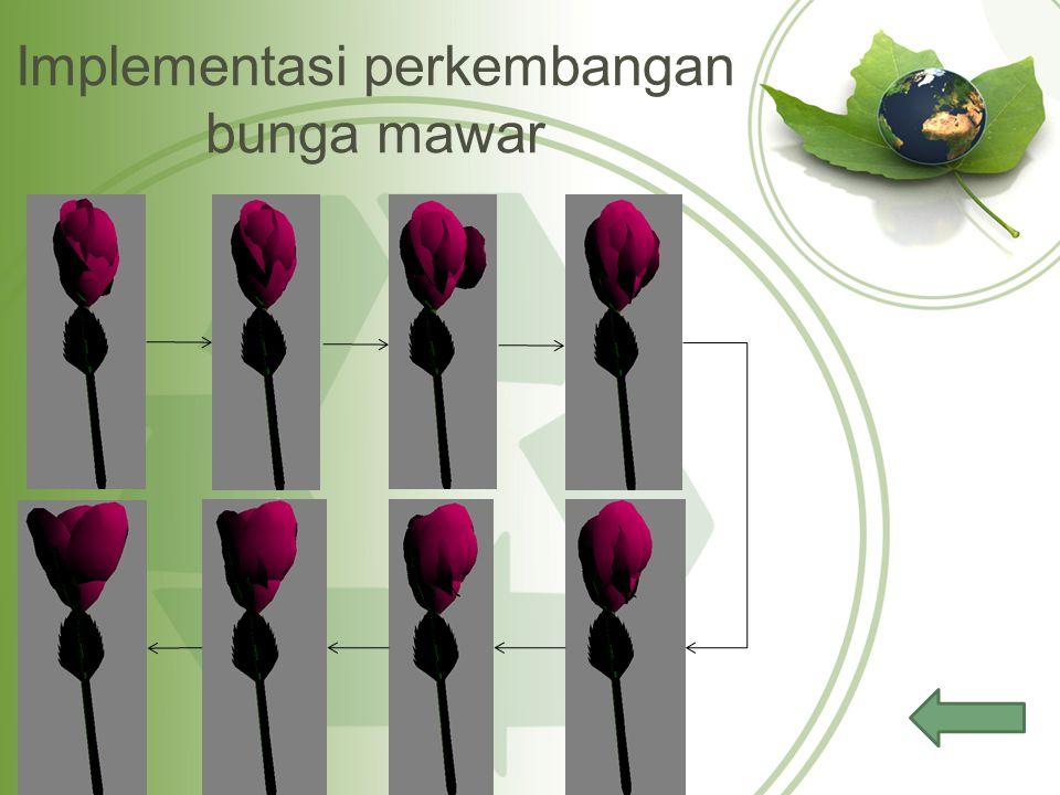 Implementasi perkembangan bunga mawar