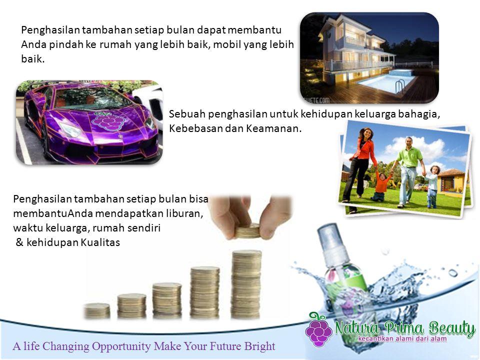 t A life Changing Opportunity Make Your Future Bright Sebuah penghasilan untuk kehidupan keluarga bahagia, Kebebasan dan Keamanan.