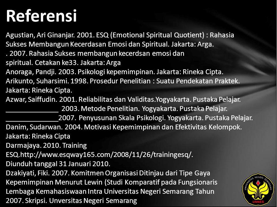 Referensi Agustian, Ari Ginanjar. 2001.