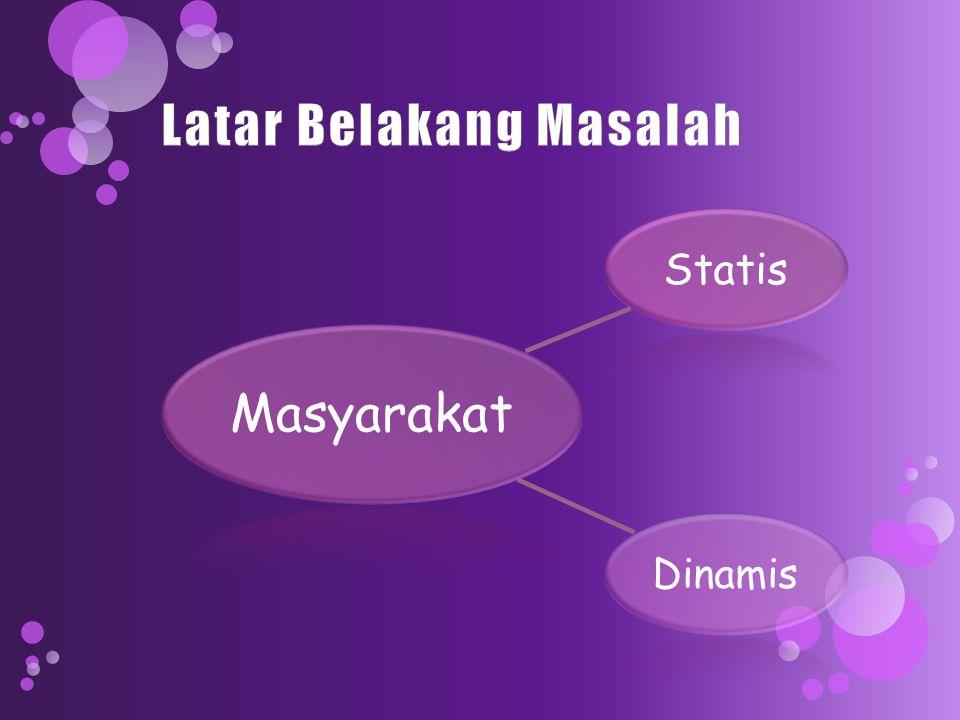 Masyarakat Statis Dinamis