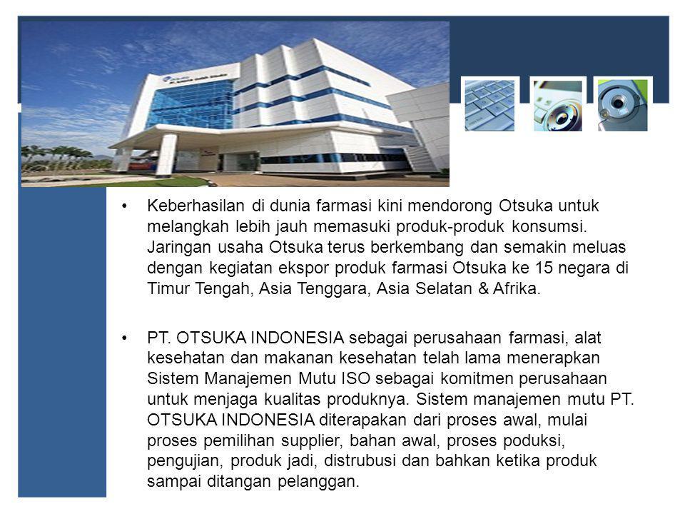 Keberhasilan di dunia farmasi kini mendorong Otsuka untuk melangkah lebih jauh memasuki produk-produk konsumsi.