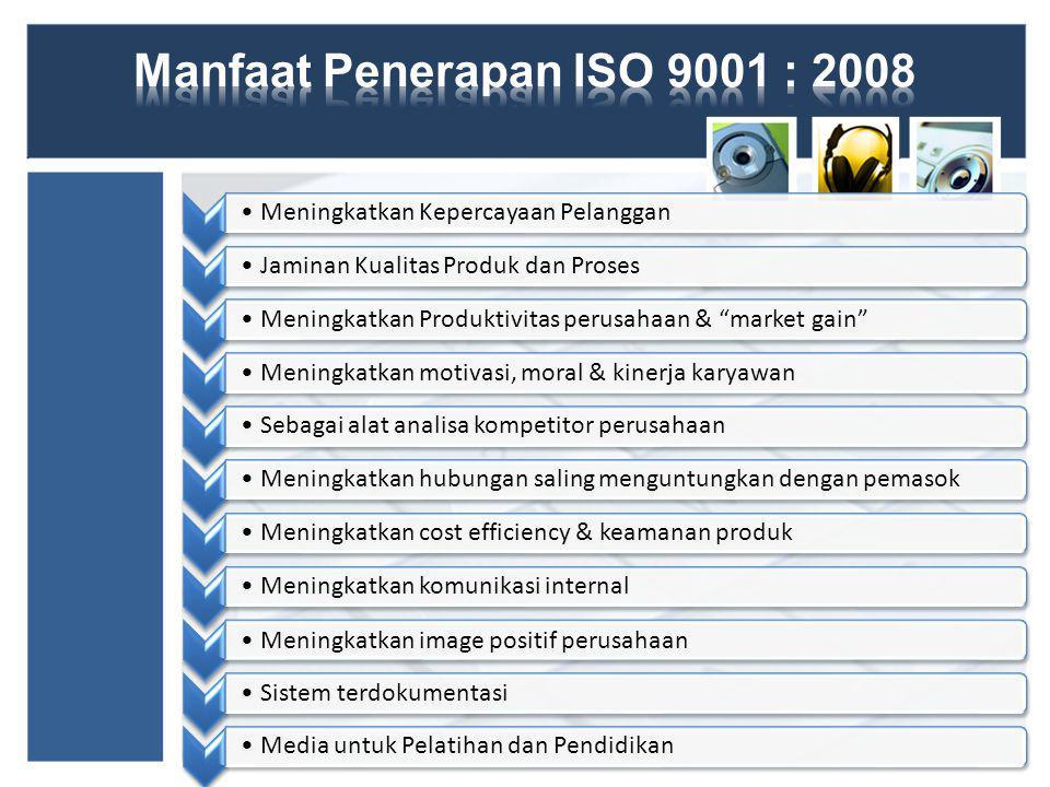 Perencanaan Sertifikasi ISO 9001 pada PT Otsuka Indonesia adalah perumusan dan desain langkah penerapan sistem manajemen mutu, mulai dari pemilihan Badan sertifikasi ISO, identifikasi aspek kualitas, dokumentasi dan lain lain.