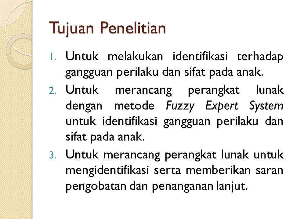 Manfaat Penelitian 1.Teoritis Dapat menambah pengetahuan tentang sistem pakar dan metodenya serta aplikasi yang dapat dikembangkan dalam sistem pakar 2.
