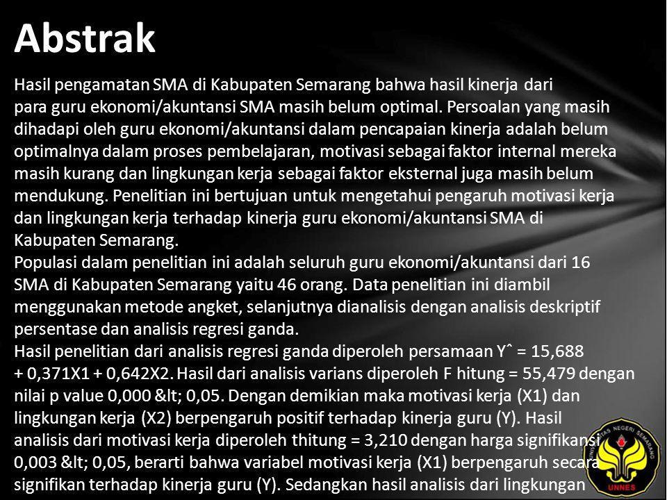 Abstrak Hasil pengamatan SMA di Kabupaten Semarang bahwa hasil kinerja dari para guru ekonomi/akuntansi SMA masih belum optimal.