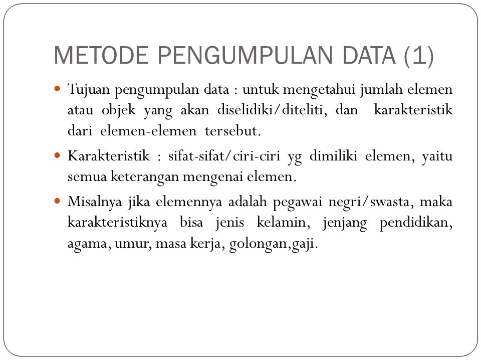JENIS SAMPLING ACAK/RANDOM/PROBABILITY SAMPLING (5) 5.