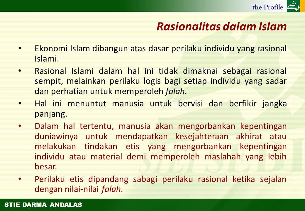 STIE DARMA ANDALAS Ekonomi Islam sebagai Suatu Ilmu dan Norma Ekonomi positif (positive economics) dan ekonomi normatif (normative economics) Ilmu eko