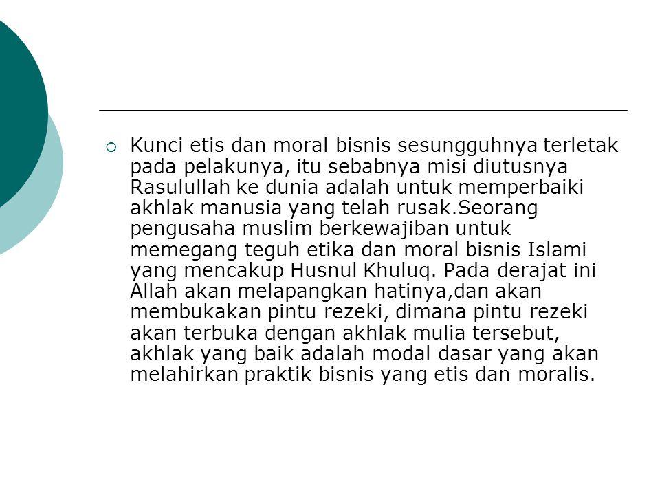 akhlak yang baik dalam bisnis Islam  Kejujuran (QS: Al Ahzab;70-71).