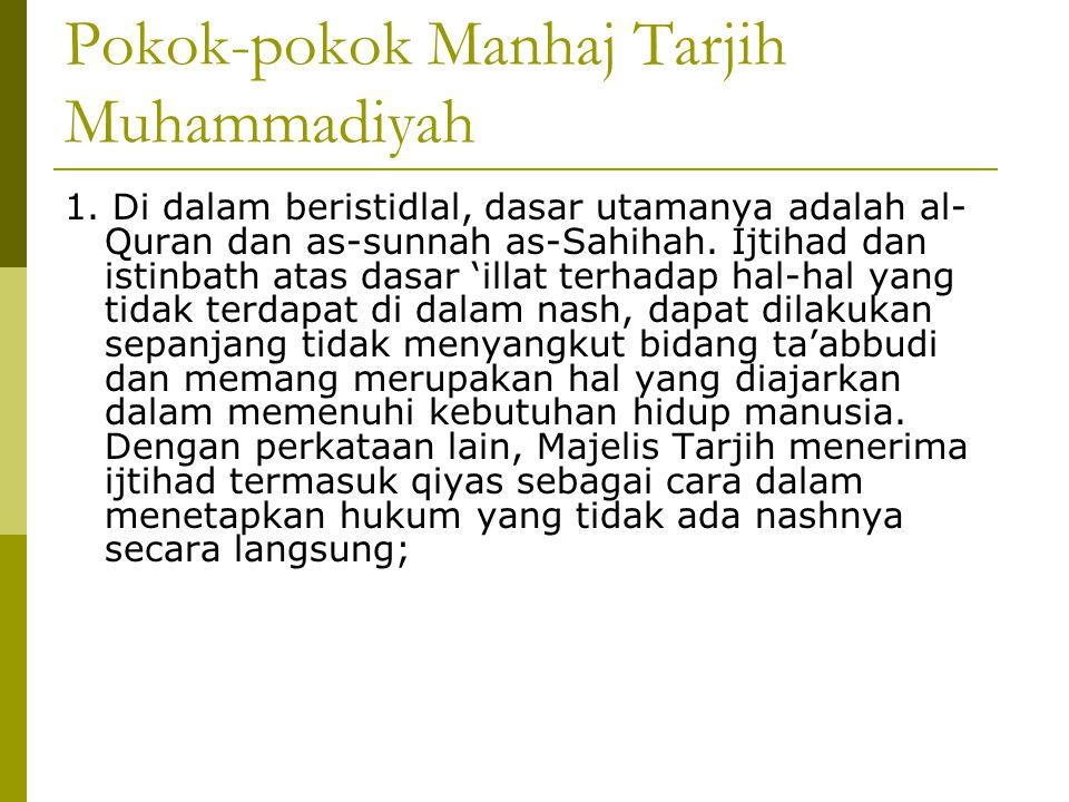 Pokok-pokok Manhaj Tarjih Muhammadiyah 1.