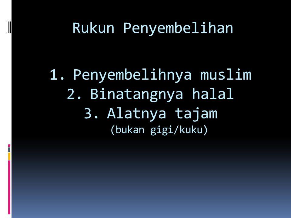 QS. Al-Maidah: 3 PENYEMBELIHAN HEWAN            