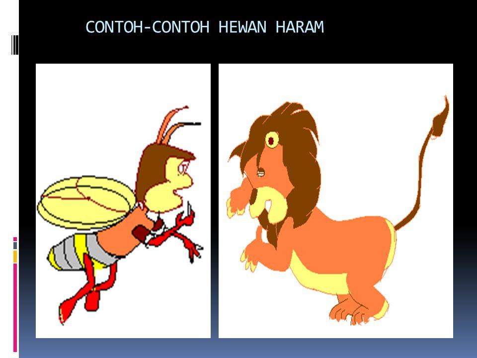HEWAN HARAM  ALQURAN S.AL-MAIDAH: 3 > Bangkai > Darah > Daging babi > Disembelih dg nama selain Alloh. > Mati dicekik > Mati dipukul > Mati terjatuh