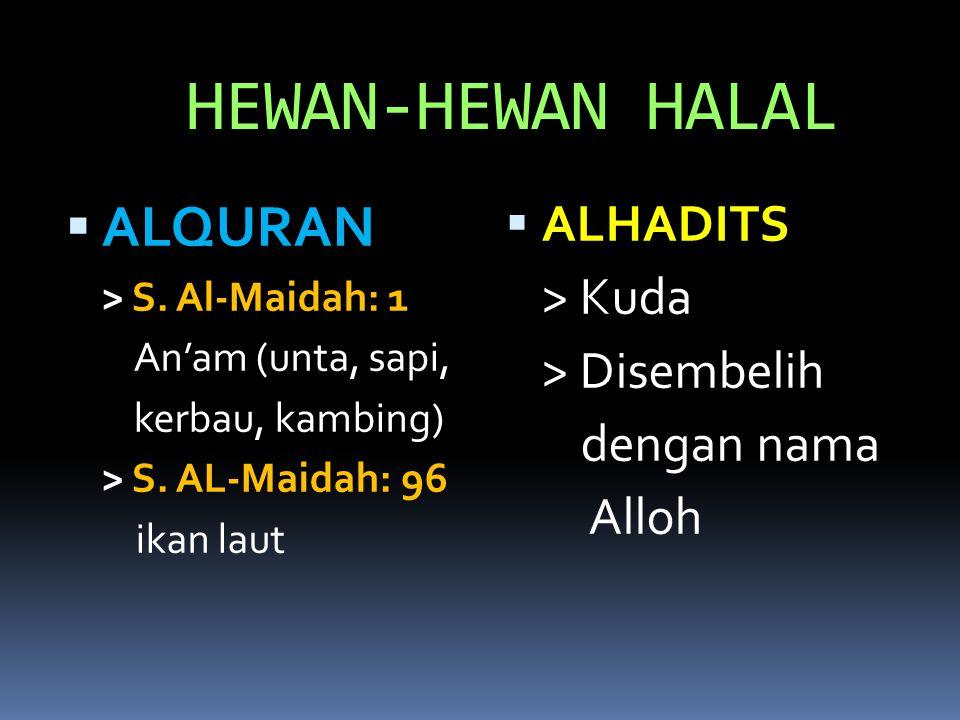 HEWAN-HEWAN HALAL  ALQURAN > S.Al-Maidah: 1 An'am (unta, sapi, kerbau, kambing) > S.