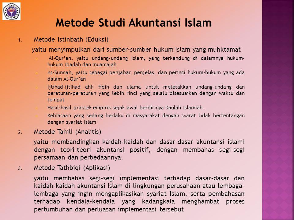 1. Metode Istinbath (Eduksi) yaitu menyimpulkan dari sumber-sumber hukum Islam yang muhktamat Al-Qur'an, yaitu undang-undang Islam, yang terkandung di