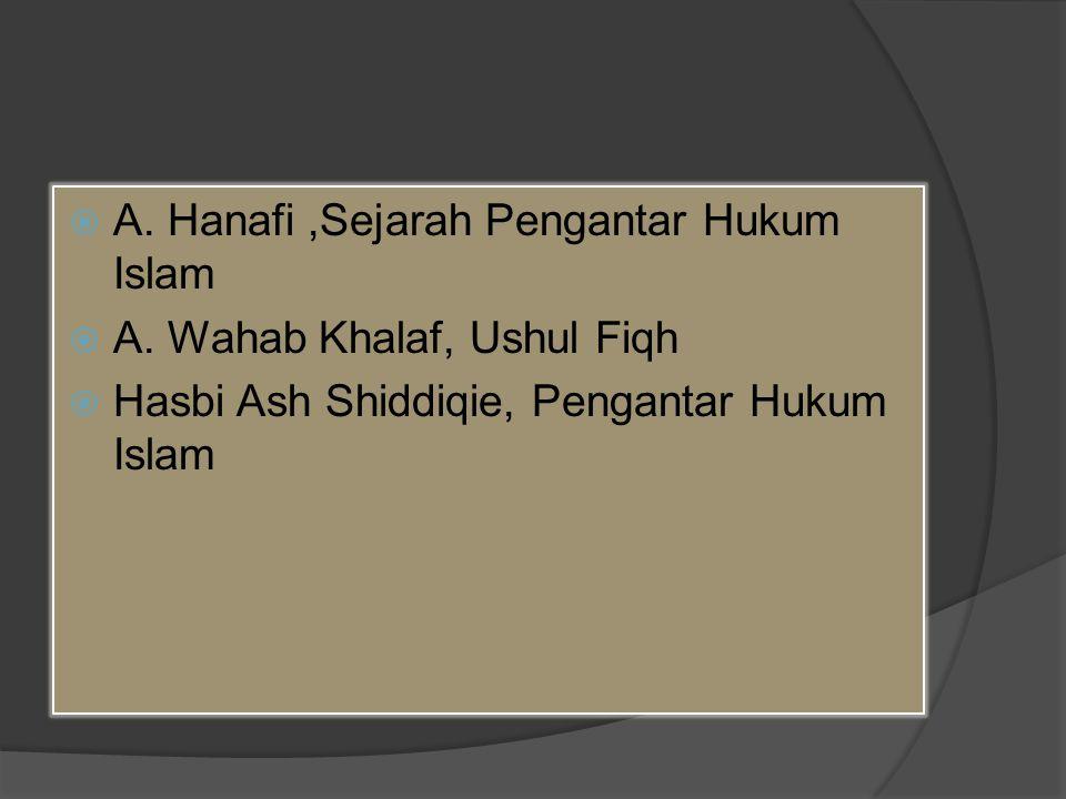  A.Hanafi,Sejarah Pengantar Hukum Islam  A.