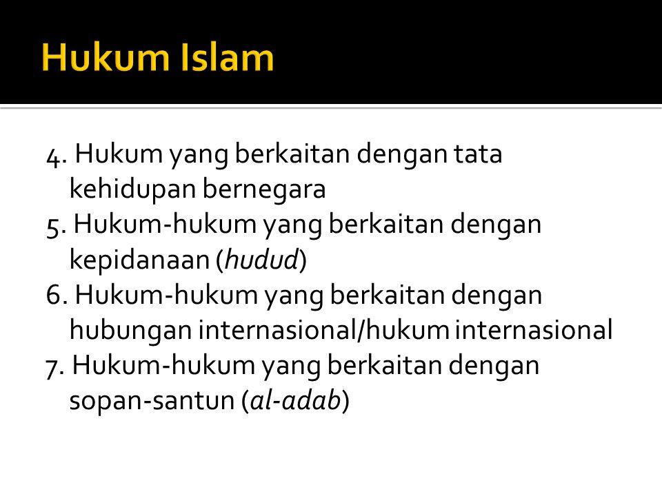 lima kaidah dalam hubungan manusia (al ahkam al khamsah): a.