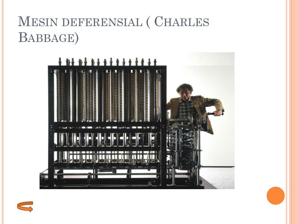 M ESIN DEFERENSIAL ( C HARLES B ABBAGE )