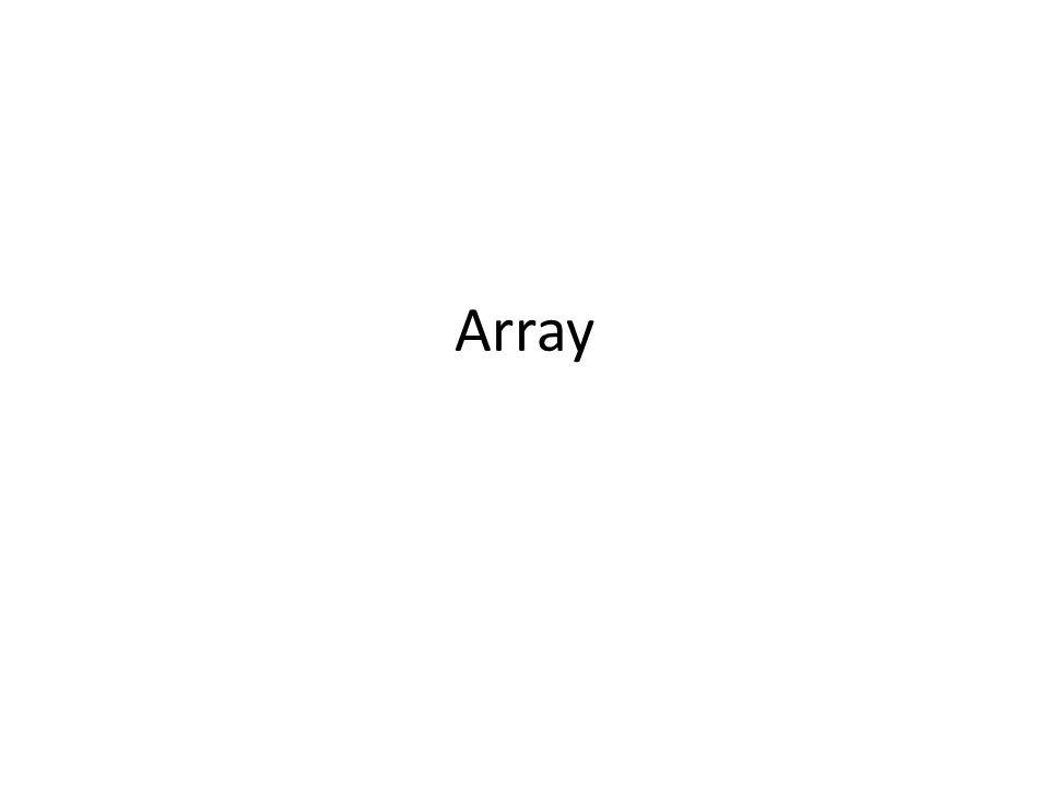 Konsep Array adalah struktur data yang menyimpan sekumpulan elemen yang sama dengan satu nama variabel.