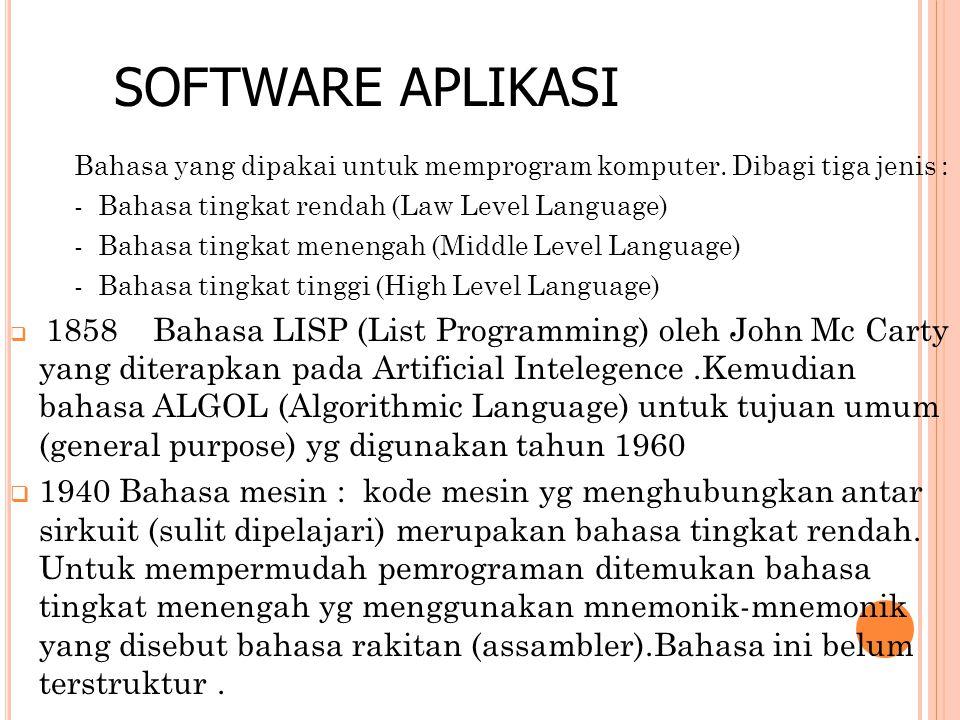 Bahasa yang dipakai untuk memprogram komputer.