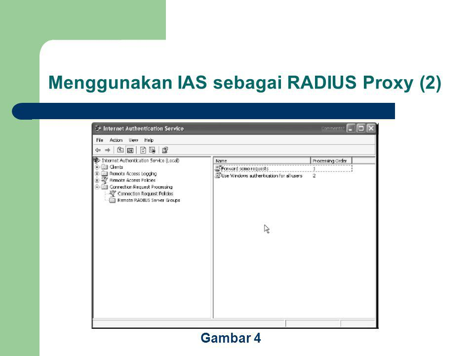 Menggunakan IAS sebagai RADIUS Proxy (2) Gambar 4