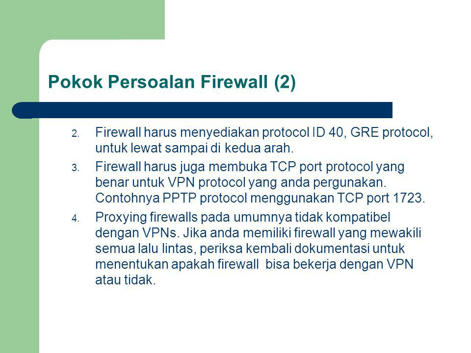 Pokok Persoalan Firewall (2) 2.