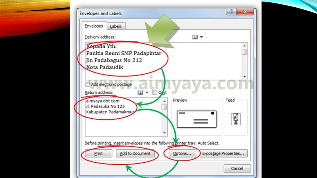 STEP BY STEP PEMBUATAN LABEL 2.Kemudian file daftar nama tersebut diberi nama dan disimpan.