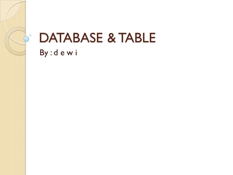 Pendahuluan Database (basis data) adalah suatu pengorganisasian data dengan bantuan komputer yang memungkinkan data dapat diakses dengan mudah dan cepat.
