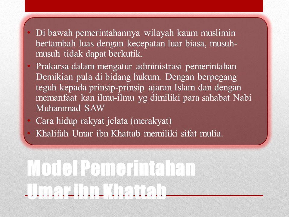 Pengangkatan Menjadi Khalifah Bila Abu Bakar Ash Shiddiq r.a. menjadi Khalifah melalui pemilihan kaum muslimin maka Umar Ibnul Khattab r.a. dibai'at s