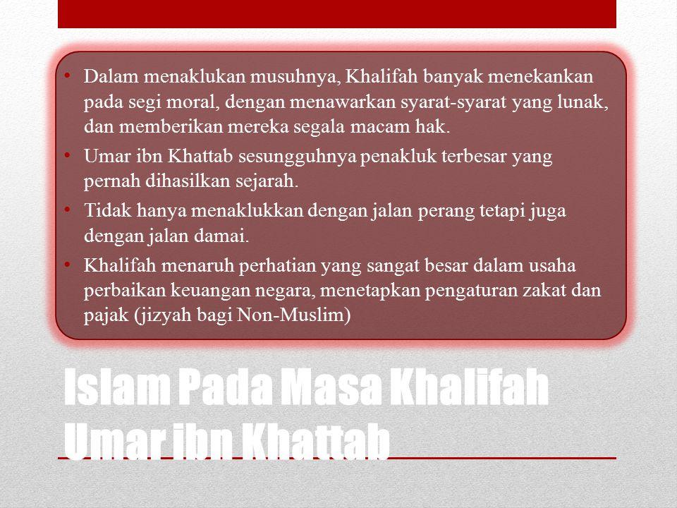 "Khalifah Umar berpidato di hadapan penduduk Madinah: ""Saudara-saudaraku! Aku bukanlah rajamu yang ingin menjadikan Anda budak. Aku adalah hamba Allah"