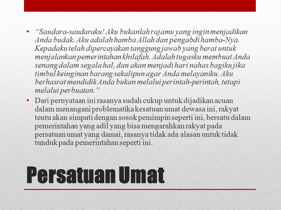 Wafatnya Khalifah Umar ibn Khattab Umar memerintah selama 10 tahun (13-23 H/ 634-644 M). Masa jabatannya berakhir dengan kematian. Pada hari Rabu bula