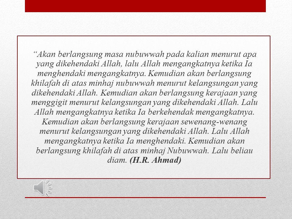 Khalifah Umar berpidato di hadapan penduduk Madinah: Saudara-saudaraku.