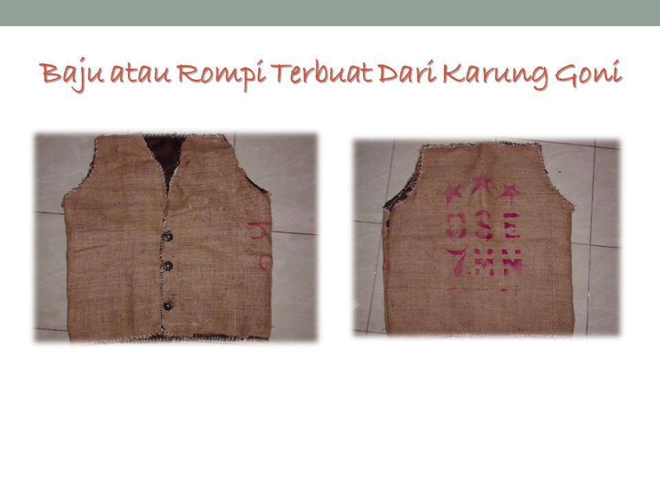 Baju atau Rompi Terbuat Dari Karung Goni