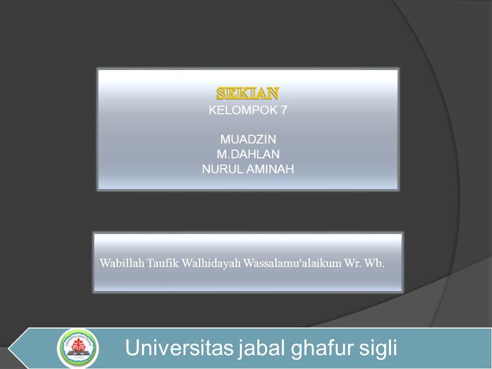 Wabillah Taufik Walhidayah Wassalamu'alaikum Wr. Wb. Universitas jabal ghafur sigli