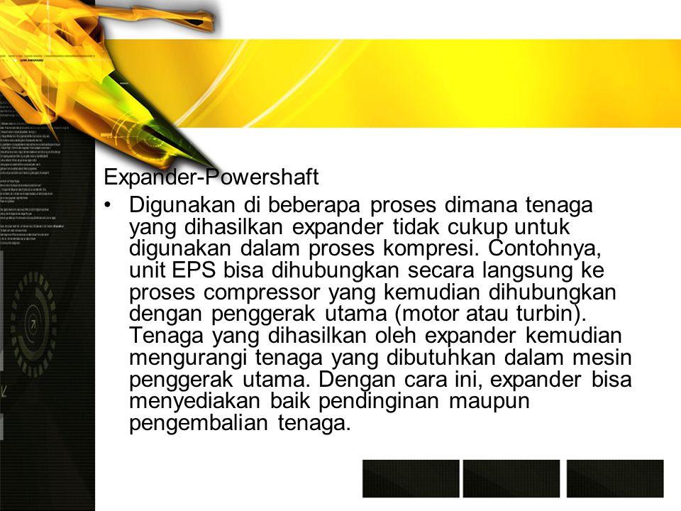 Expander-Powershaft Digunakan di beberapa proses dimana tenaga yang dihasilkan expander tidak cukup untuk digunakan dalam proses kompresi.